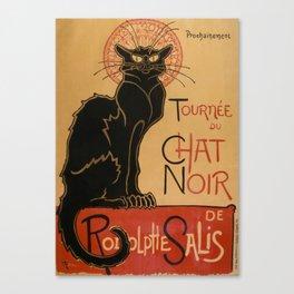 Le Chat Noir The Black Cat Poster by Théophile Steinlen Canvas Print