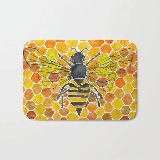 Bee & Honeycomb Bath Mat