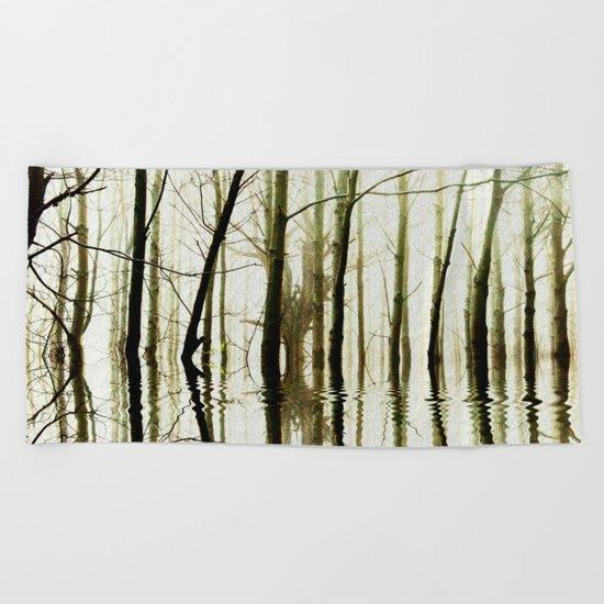 TREE TONES Beach Towel