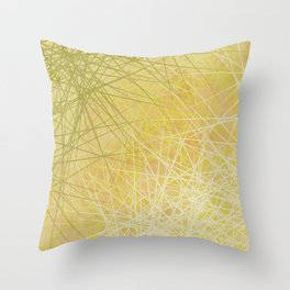 Golden Threads Throw Pillow