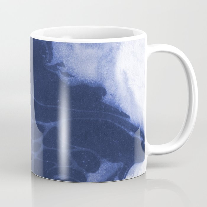 Amio - spilled ink shop watercolor marble marbling japanese printmaking modern abstract design Coffee Mug