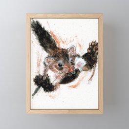 Stone marten realistic Framed Mini Art Print