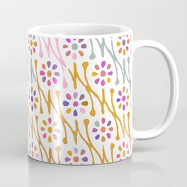 Colorful Floral Pattern Coffee Mug