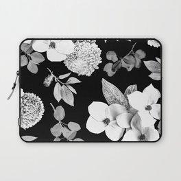 Night bloom - moonlit bw Laptop Sleeve