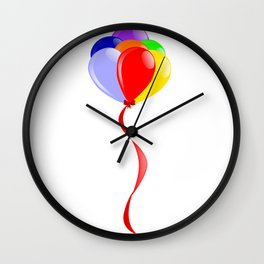Flyaway Balloons Wall Clock