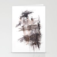 bondage Stationery Cards featuring Bondage- 151124  Abstract Watercolour  by ©valourine