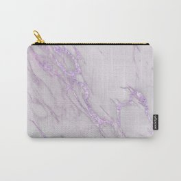 Marble Love Purple Metallic Carry-All Pouch