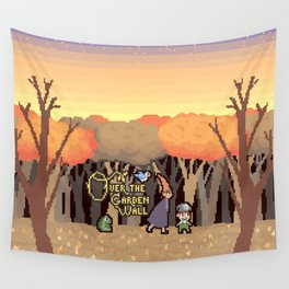 Over the Garden Pixel Wall Tapestry