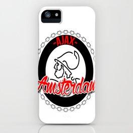 Ajax hooligan crest iPhone Case