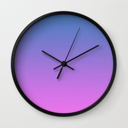 Pink blue Ombre Wall Clock