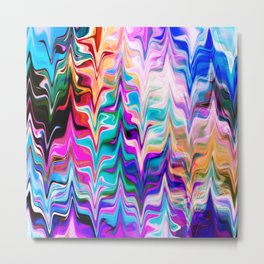 Abstract colorful marble swirls pattern Metal Print