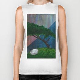 Floating Island Bonsai Tree Biker Tank