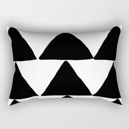Mountains - Black and White Triangles Rectangular Pillow