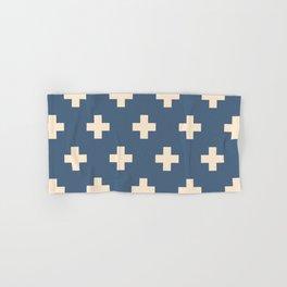 Swiss Cross Blue Hand & Bath Towel