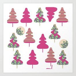 Trees pattern 5W Art Print
