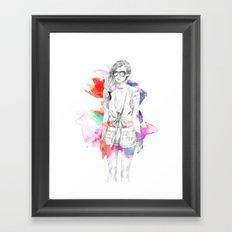 Top Shop Runway Framed Art Print