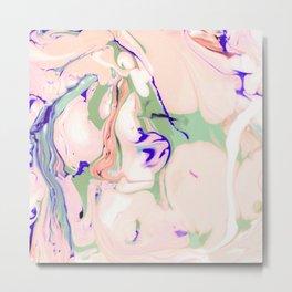Texture light colored liquid Metal Print