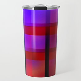 Gradient Plaid Travel Mug