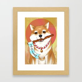 Shiba New Year Framed Art Print