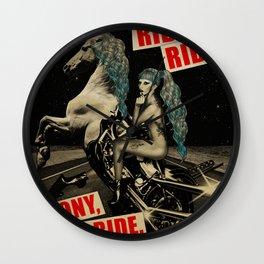 Ride, Ride, Pony, Ride, Ride Wall Clock