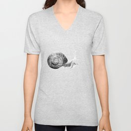 Happy Little Snail Unisex V-Neck