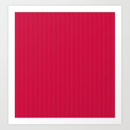 Red-colored stripes Art Print