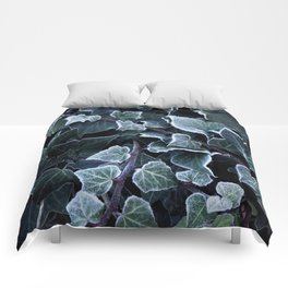 Hoarfrost Ivy Leaves Comforters