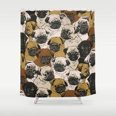 Social Pugz Shower Curtain