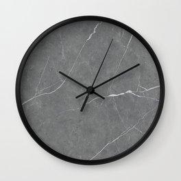 Stone Gray Marble Wall Clock