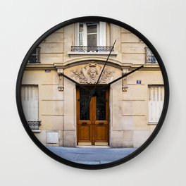 PARIS DOORS: NO. 6 (Paris, France) Wall Clock