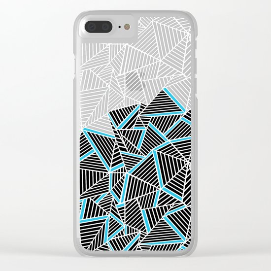 Ab 2 Repeat Blue Clear iPhone Case