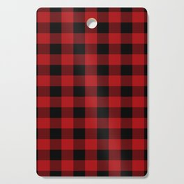 Red & Black Buffalo Plaid Cutting Board