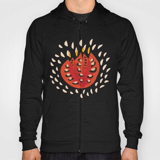Red Abstract Tulip Hoody