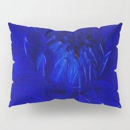 Royal Blue Fractal dahlia Pillow Sham