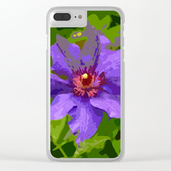 Flower III Clear iPhone Case