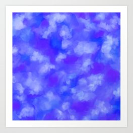 Abstract Clouds - Rich Royal Blue Art Print