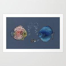 Paper Rock Scissors Art Print