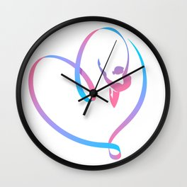 Rhythm of a Gymnast's Heart Wall Clock