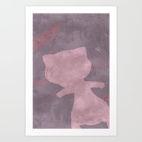 mew Art Prints featuring Mew by JHTY