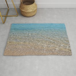 Texture of sea water in the Red Sea of Egypt Rug