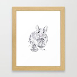 Chocolate Mouse Framed Art Print