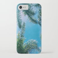 palm trees iPhone & iPod Cases featuring PALM TREES by C O R N E L L