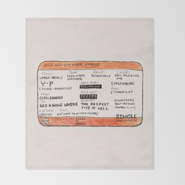 Life Crisis in a Train Ticket Throw Blanket