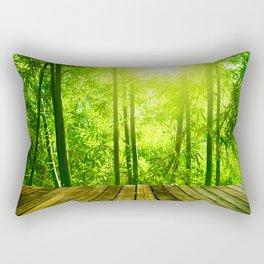 Asian Forest || Rectangular Pillow
