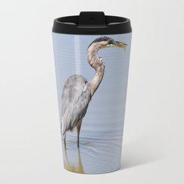 Great Blue Heron Fishing - II Travel Mug