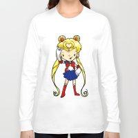 sailor moon Long Sleeve T-shirts featuring Sailor Scout Sailor Moon by Space Bat designs
