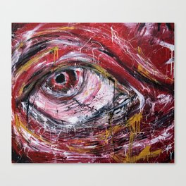 Right red eye Canvas Print