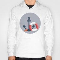 nautical Hoodies featuring Nautical  by Miracle