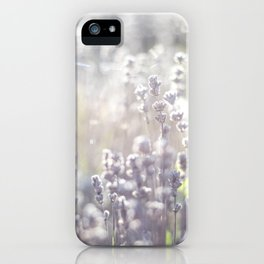 Lavender and the sun iPhone Case