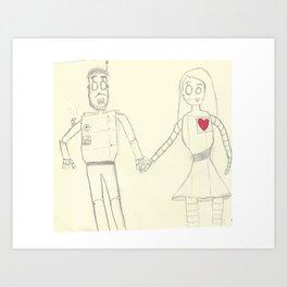 A Mechanical Love Art Print